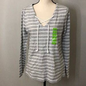 NWOT Nautica Lace up top Rope Nautical
